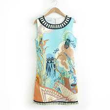 best dresses for women ocean print dresses